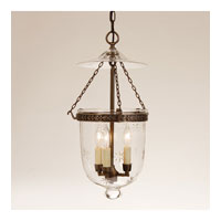 JVI Designs Bell Jar 3 Light Large Hanging Bell Pendant in Oil Rubbed Bronze with Star Glass 1041-08