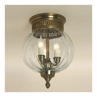 JVI Designs Melon Jar 3 Light Flush Bell Pendant in Weathered Bronze 1043-02