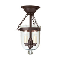 JVI Designs Bell Jar 2 Light Semi Flush Lantern in Oil Rubbed Bronze 1047-08