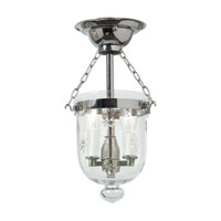 JVI Designs Bell Jar 2 Light Semi-Flush Mount in Polished Nickel 1048-15