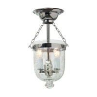 JVI Designs Bell Jar 2 Light Semi-Flush Mount in Polished Nickel 1049-15