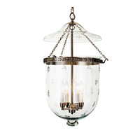 JVI Designs Bell Jar 4 Light Hanging Bell Pendant in Pewter 1058-17
