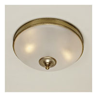 JVI Designs Rope and Arrow 3 Light Flush Mount in Rubbed Brass 1064-10 photo thumbnail
