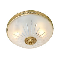Rope and Arrow 2 Light 10 inch Rubbed Brass Flush Mount Ceiling Light