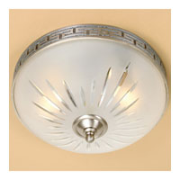 JVI Designs Rope and Arrow 2 Light Flush Mount in Pewter 1067-17