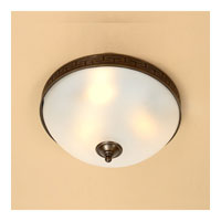 JVI Designs Rope and Arrow 3 Light Flush Mount in Oil Rubbed Bronze 1068-08 photo thumbnail