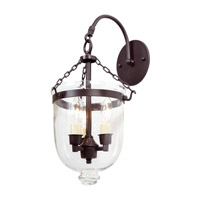 Bell Jar 3 Light 9 inch Oil Rubbed Bronze Bell Wall Sconce Wall Light