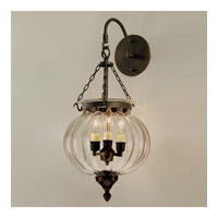 JVI Designs Melon Jar 3 Light Bell Wall Sconce in Oil Rubbed Bronze 1093-08