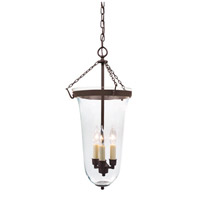 JVI Designs 1097-08 Sophia 3 Light 13 inch Oil Rubbed Bronze Bell Jar Pendant Ceiling Light