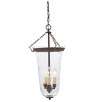 JVI Designs 1098-08 Sophia 3 Light 13 inch Oil Rubbed Bronze Bell Jar Pendant Ceiling Light