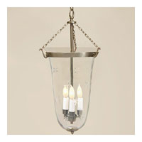 JVI Designs Bell Jar 3 Light Large Hanging Bell Pendant in Pewter with Star Glass 1098-17