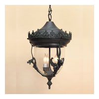 JVI Designs Gryphon 2 Light Small Outdoor Ceiling Mount in Verde 1105-25
