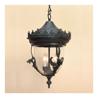 JVI Designs Gryphon 3 Light Outdoor Hanging Lantern in Verde 1112-25
