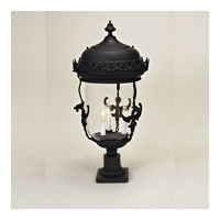 JVI Designs Gryphon 3 Light Outdoor Post Lantern in Matte Black 1114-26 photo thumbnail