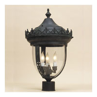 Opera 3 Light 27 inch Verde Outdoor Post Lantern