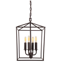JVI Designs 1141-08 Austin 4 Light 12 inch Oil Rubbed Bronze Foyer Lantern Ceiling Light