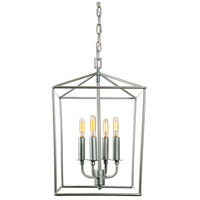 Austin 4 Light 12 inch Aged Silver Foyer Lantern Ceiling Light