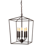 JVI Designs 1142-08 Austin 5 Light 15 inch Oil Rubbed Bronze Foyer Lantern Ceiling Light
