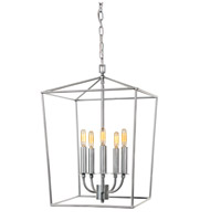 JVI Designs 1142-23 Austin 5 Light 15 inch Aged Silver Foyer Lantern Ceiling Light