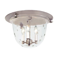 JVI Designs Bell Jar 3 Light Semi Flush Lantern in Pewter 1158-17