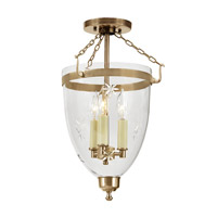 JVI Designs Danbury 3 Light Semi-Flush Mount in Rubbed Brass 1163-10