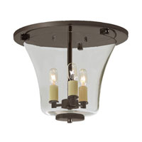 Greenwich 3 Light 12 inch Oil Rubbed Bronze Flush Mount Ceiling Light
