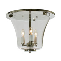 Greenwich 3 Light 12 inch Polished Nickel Flush Mount Ceiling Light
