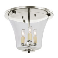JVI Designs Greenwich 3 Light Flush Mount in Pewter 1181-17