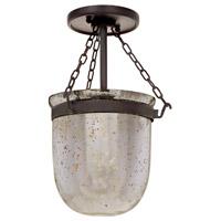 JVI Designs 1190-08 Hundi 1 Light 9 inch Oil Rubbed Bronze Flush Mount Ceiling Light