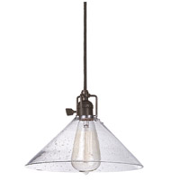 Union Square 1 Light 10 inch Oil Rubbed Bronze Pendant Ceiling Light in Seeded, S2