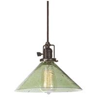 JVI Designs 1201-08-S2-LB Union Square 1 Light 10 inch Oil Rubbed Bronze Pendant Ceiling Light in Lime Seeded, S2 photo thumbnail