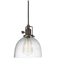 JVI Designs 1200-08-S5-CB Union Square 1 Light 7 inch Oil Rubbed Bronze Pendant Ceiling Light in Seeded, S5 photo thumbnail