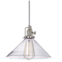 JVI Designs Union Square 1 Light Pendant in Polished Nickel 1200-15-S2-CB
