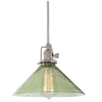 Union Square 1 Light 10 inch Polished Nickel Pendant Ceiling Light in Lime Seeded, S2