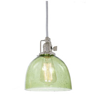 Union Square 1 Light 7 inch Polished Nickel Pendant Ceiling Light in Lime Seeded, S5