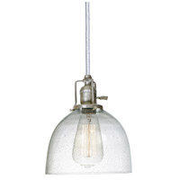 JVI Designs 1200-17-S5-CB Union Square 1 Light 7 inch Pewter Pendant Ceiling Light in Seeded, S5 photo thumbnail