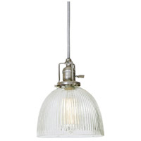 Union Square 1 Light 7 inch Pewter Pendant Ceiling Light in Clear Ribbed, S5