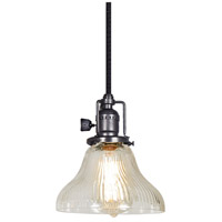 JVI Designs 1200-18-S11-CR Union Square 1 Light 7 inch Gun Metal Pendant Ceiling Light photo thumbnail