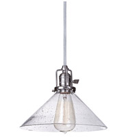 Union Square 1 Light 10 inch Gun Metal Pendant Ceiling Light in Seeded, S2