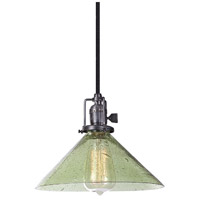Union Square 1 Light 10 inch Gun Metal Pendant Ceiling Light in Lime Seeded, S2