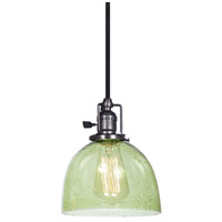 Union Square 1 Light 7 inch Gun Metal Pendant Ceiling Light in Lime Seeded, S5