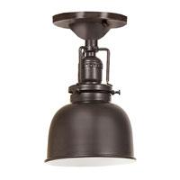 JVI Designs Union Square 1 Light Semi-Flush Mount in Oil Rubbed Bronze 1202-08-M2