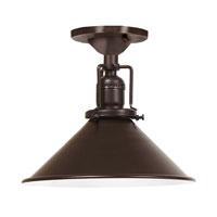 JVI Designs Union Square 1 Light Semi-Flush Mount in Oil Rubbed Bronze 1202-08-M3