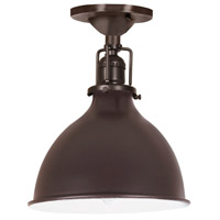 Union Square 1 Light 7 inch Oil Rubbed Bronze Flush Mount Ceiling Light