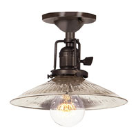 Union Square 1 Light 8 inch Polished Nickel Flush Mount Ceiling Light