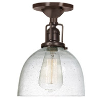 Union Square 1 Light 7 inch Oil Rubbed Bronze Flush Mount Ceiling Light in S5, Seeded
