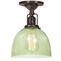 Union Square 1 Light 7 inch Oil Rubbed Bronze Flush Ceiling Mount Ceiling Light in Lime Seeded, S5