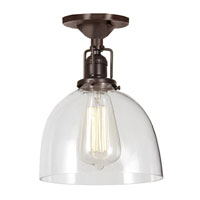 JVI Designs Union Square 1 Light Semi-Flush Mount in Oil Rubbed Bronze 1202-08-S5