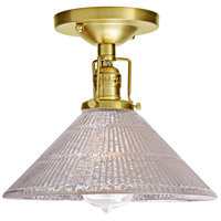 Union Square Bailey 1 Light 10 inch Satin Brass Flush Mount Ceiling Light in Mercury Pressed Glass