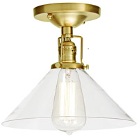 Union Square Bailey 1 Light 10 inch Satin Brass Flush Mount Ceiling Light in Clear Glass